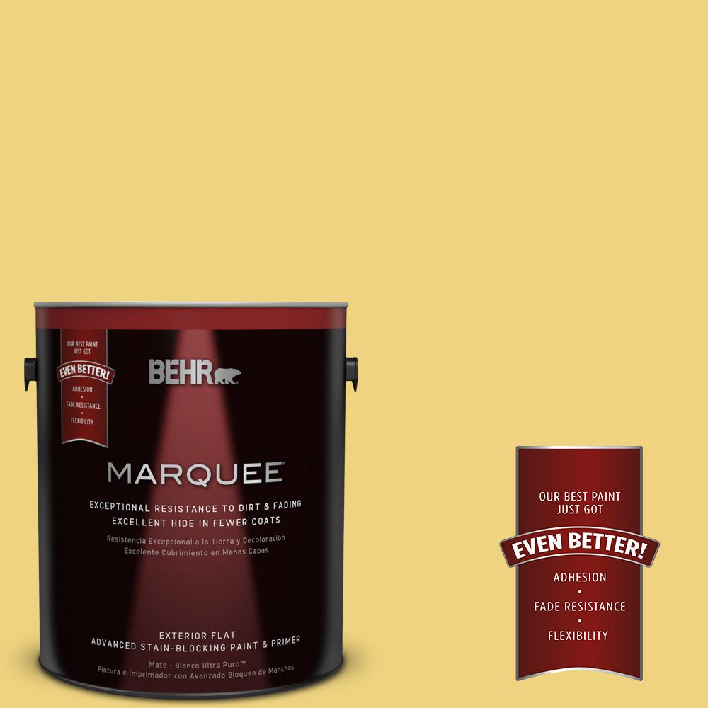 BEHR MARQUEE 1-gal. #380D-4 Feather Gold Flat Exterior Paint