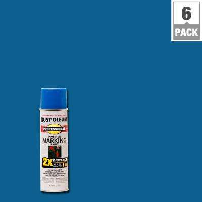 15 oz. Caution Blue 2X Distance Inverted Marking Spray Paint (6-Pack)