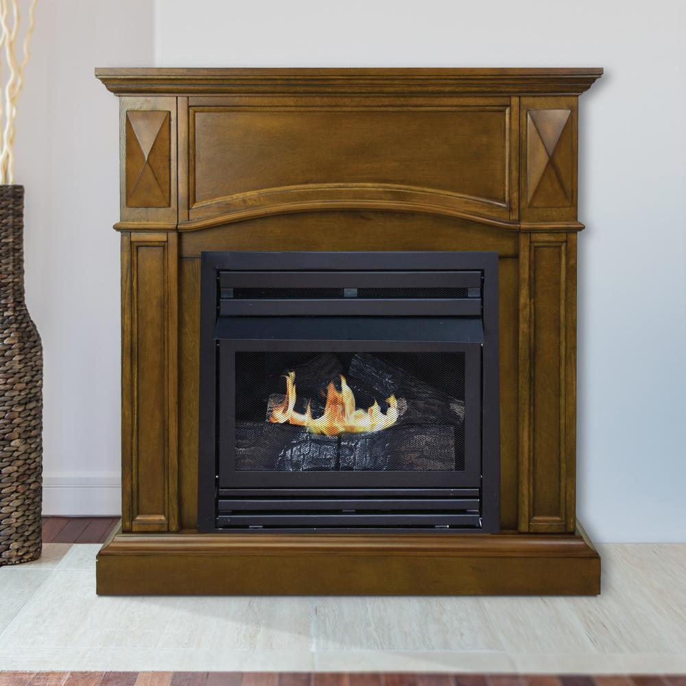 Pleasant Hearth 20 000 Btu 36 In Compact Convertible Ventless