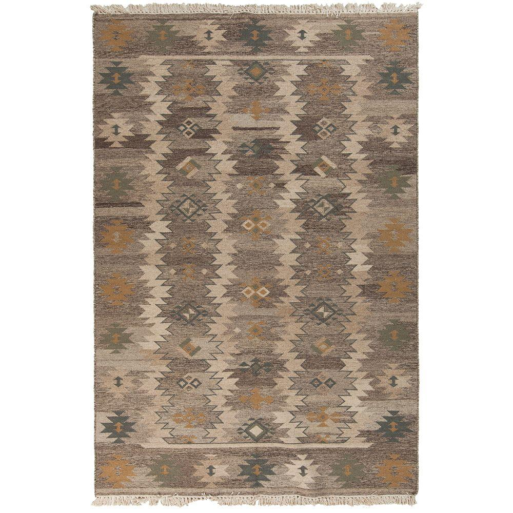 Kayanza Hot Cocoa 8 ft. x 11 ft. Flatweave Area Rug
