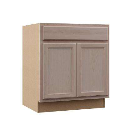Hampton Assembled 30x34.5x24 in. Base Kitchen Cabinet in Unfinished Beech