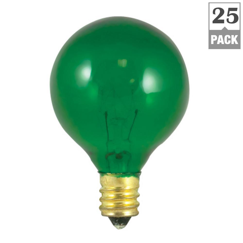 10-Watt G12 Transparent Green Dimmable Incandescent Light Bulb (25-Pack)