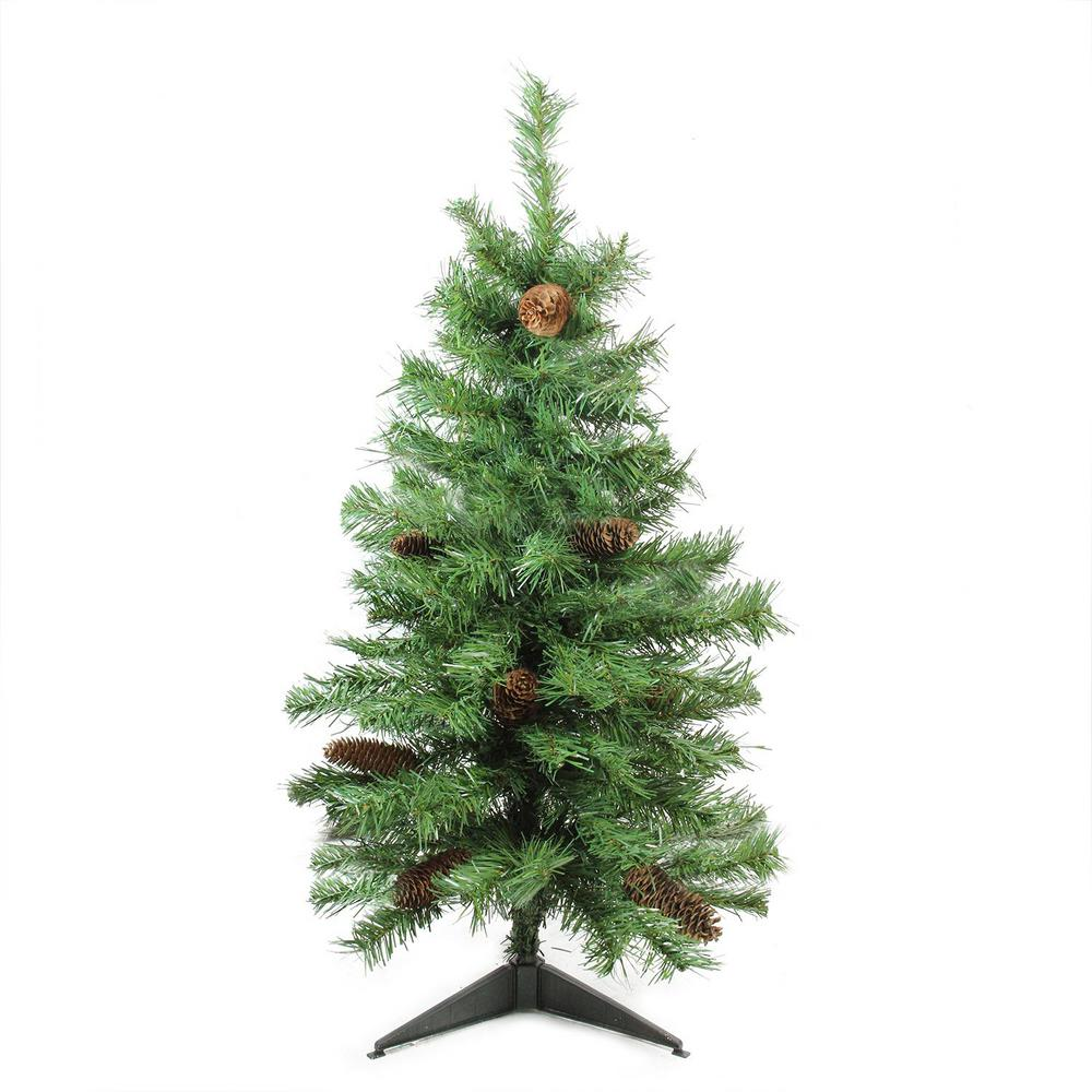 Artificial Christmas Tree With Pine Cones: Northlight 3 Ft. X 22 In. Unlit Dakota Red Pine Full