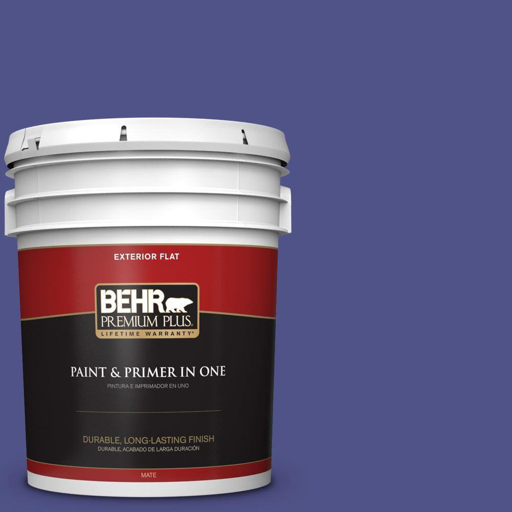 5-gal. #P550-7 Purple Prince Flat Exterior Paint