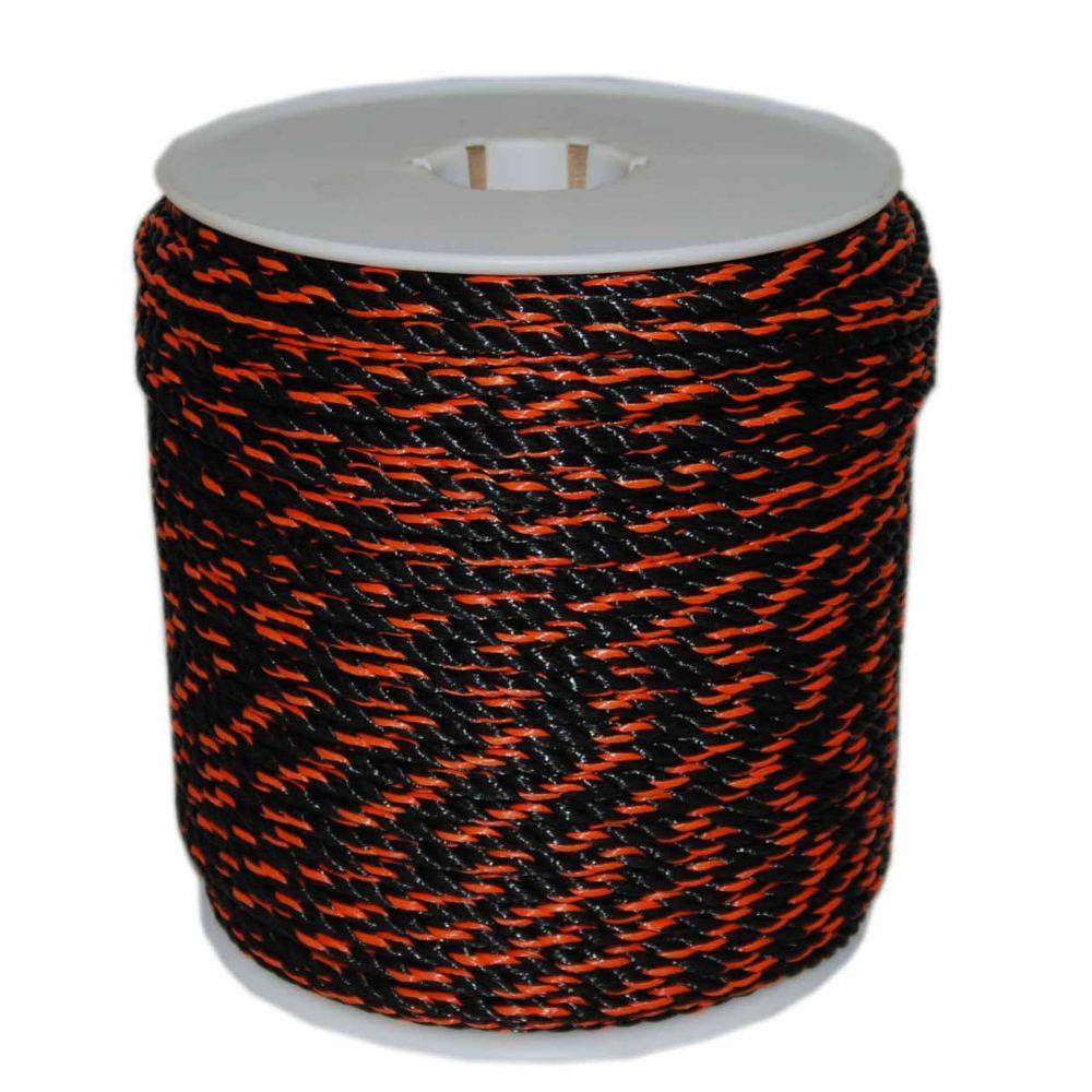 3/8 in. x 600 ft. California Truck Rope in Black and