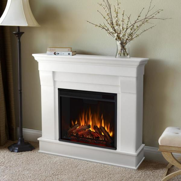 Real Flame Chateau 41 In Electric Fireplace In White 5910e W The Home Depot