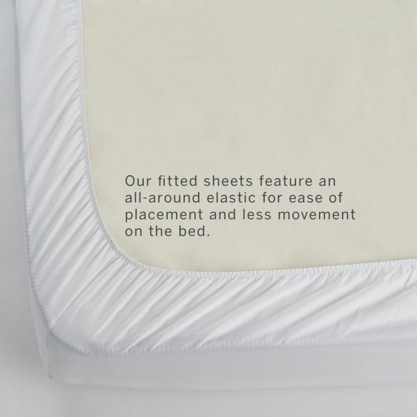 The Company Store Company Cotton White Solid 300 Thread Count