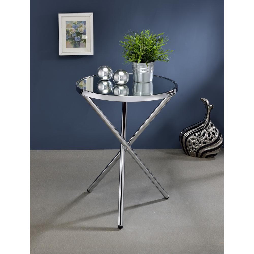 Lajita Side Table, Mirror and Chrome