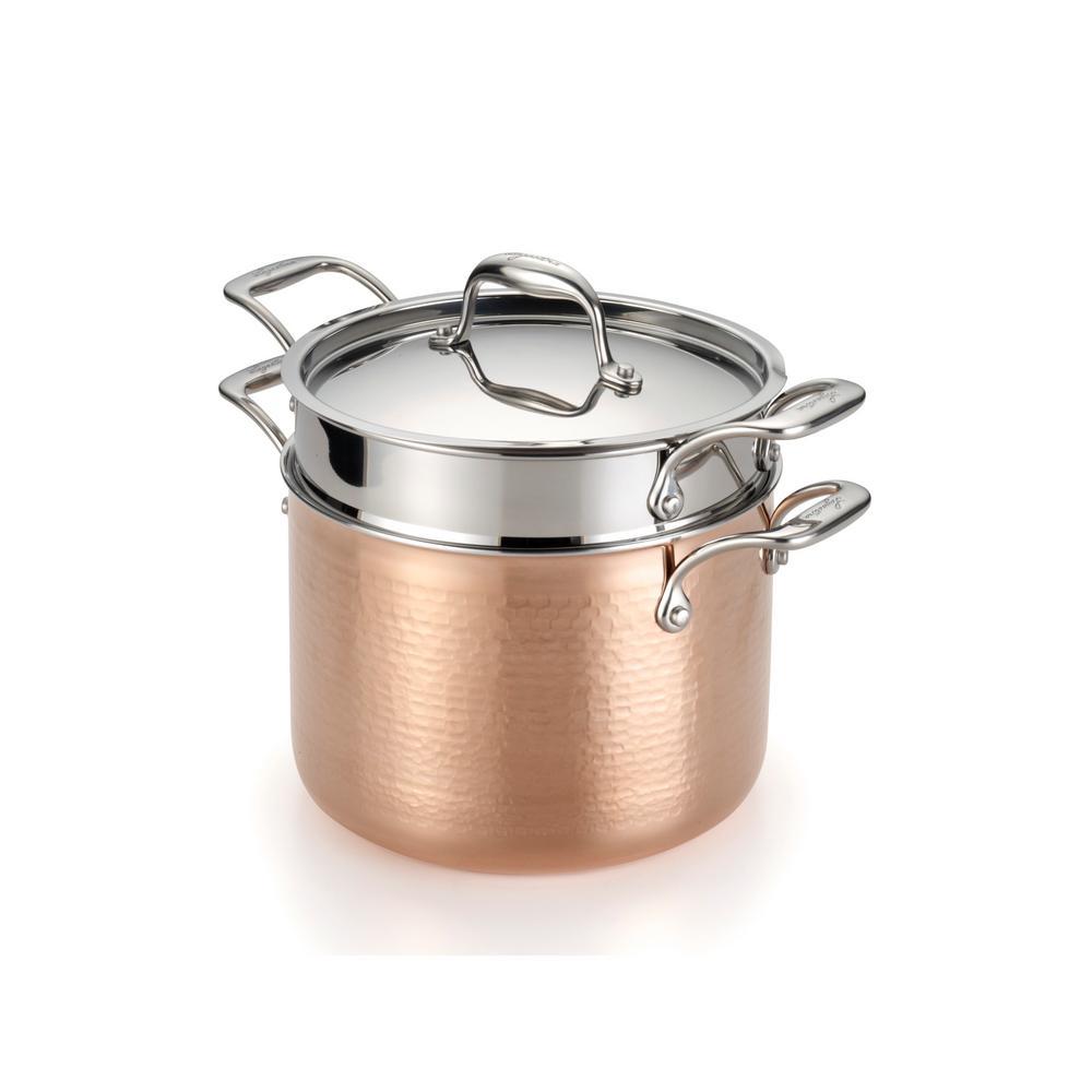 Martellata 6 Qt. Hammered Copper Tri-Ply Pasta Set
