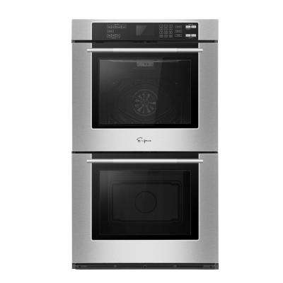 30 in. 5.0 cu. ft. Electric Double Wall Oven Self-Cleaning Convection in Stainless Steel
