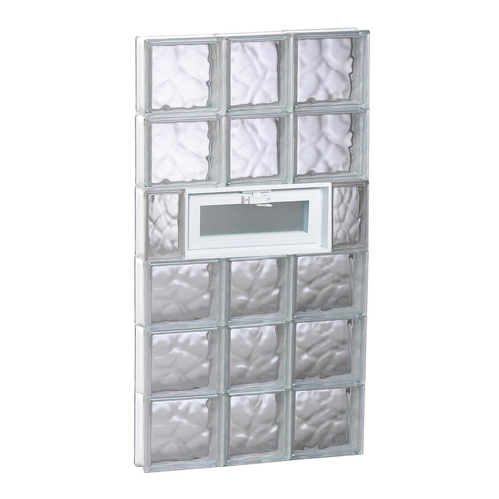 Clearly Secure 21.25 in. x 46.5 in. x 3.125 in. Frameless Wave ...