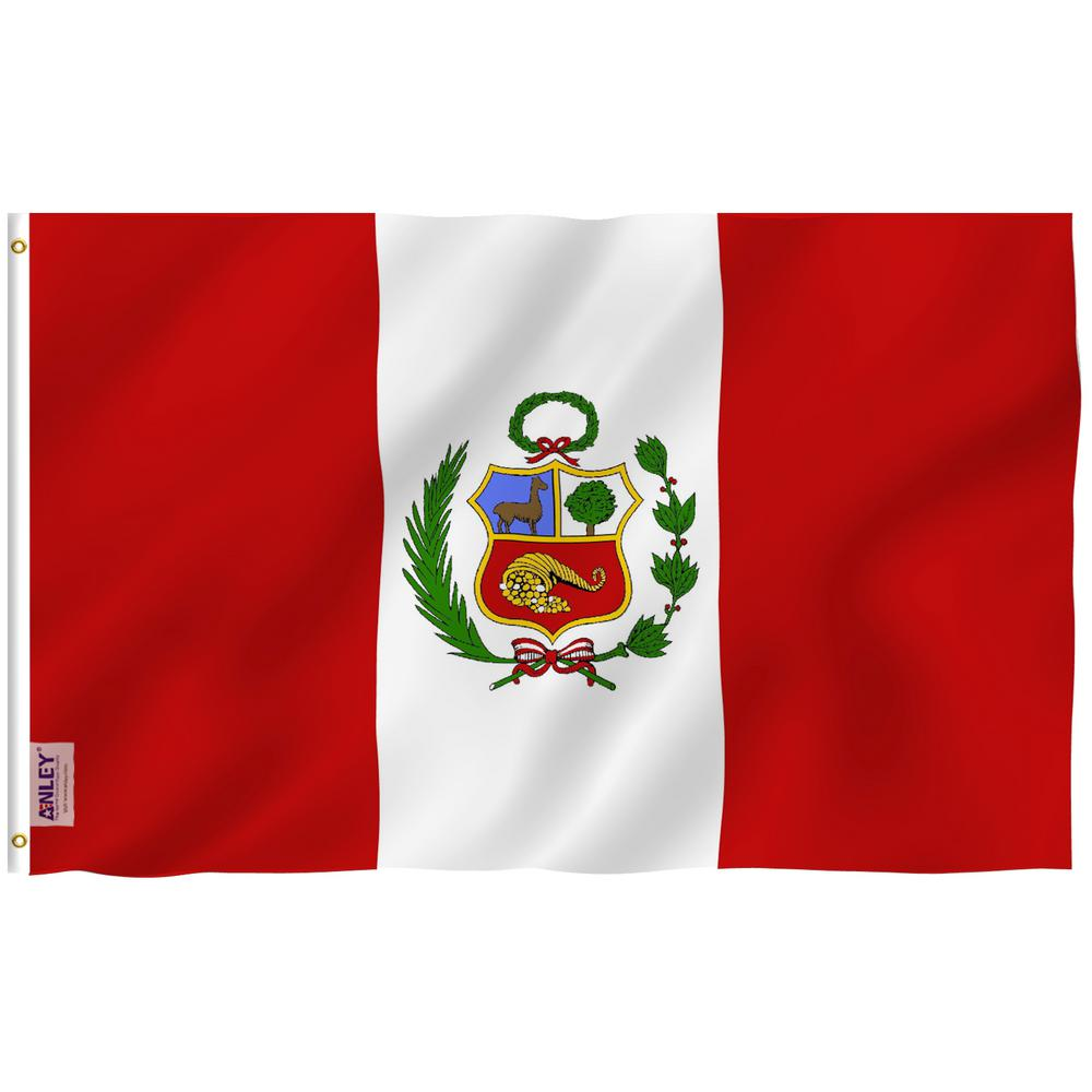 Anley Fly Breeze 3 Ft X 5 Ft Polyester Peru Flag 2 Sided