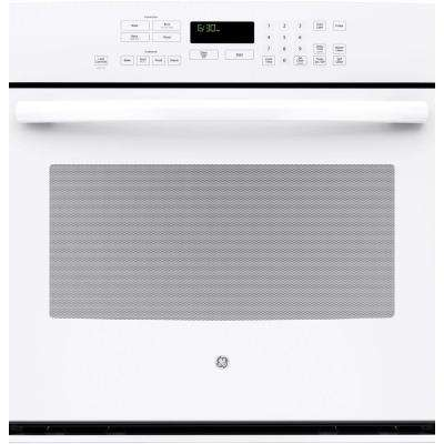 30 in. Single Electric Wall Oven Self-Cleaning with Steam Plus Convection in White