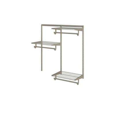 Closet Culture 16 in. x 48 in. W x 48 in. H Wire Closet System with 3 Champagne Nickel Shelves