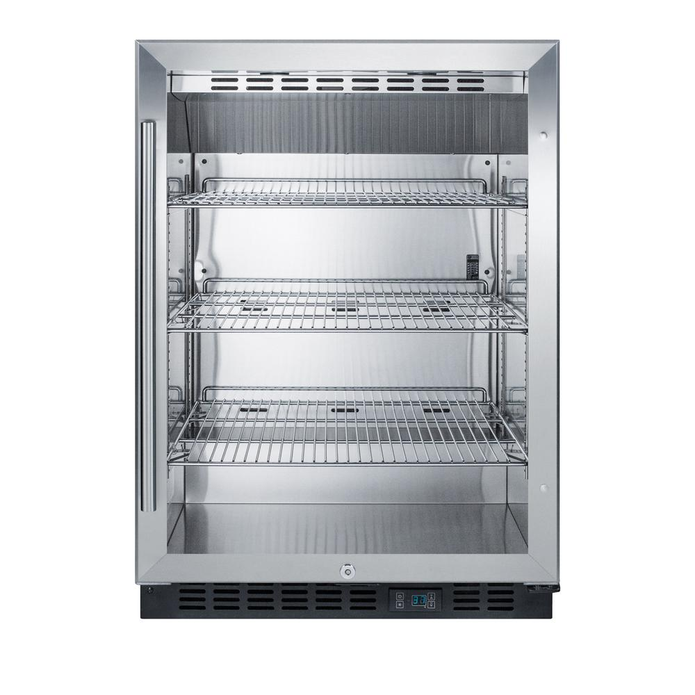 Summit Appliance 24 in. 5 cu. ft. Commercial Refrigerator with Glass ...