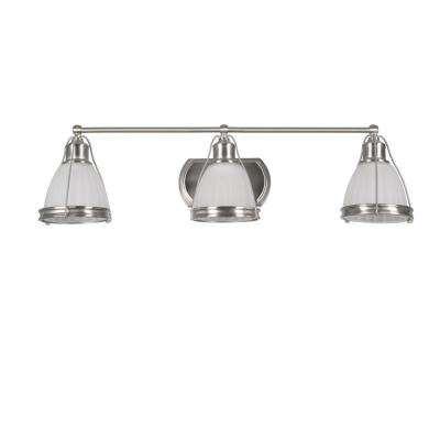 Landry 3-Light Satin Nickel Bath Light