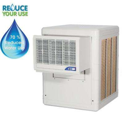 1/3-HP 2-Speed Motor, High Efficiency Rigid Media Water Conservation Evaporative Cooler, Cools up to 1000 sq. ft.