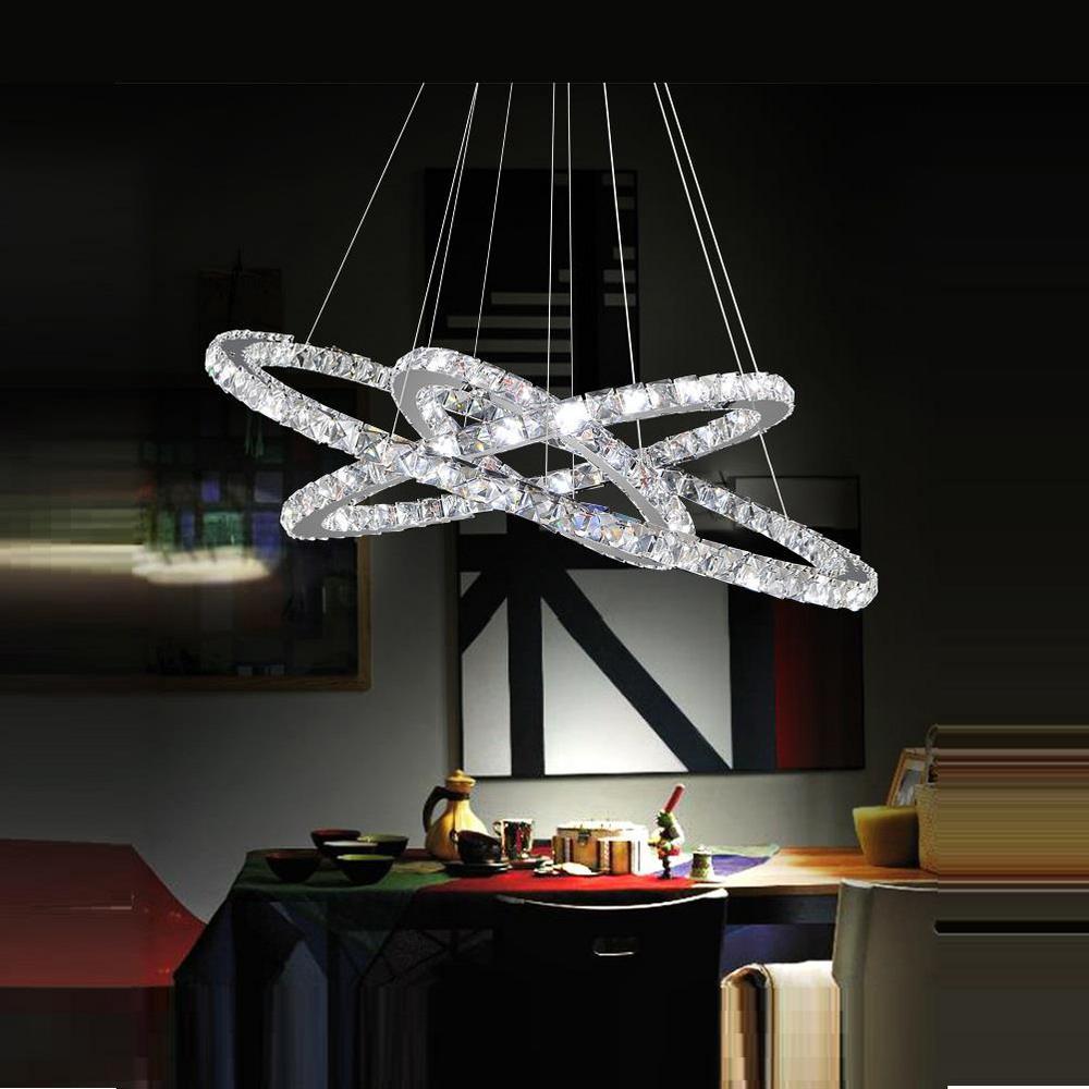 CWI Lighting Ring 74-Watt Chrome Integrated LED Chandelier