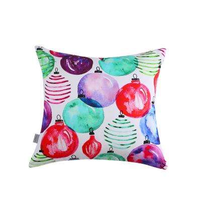 Ornaments Reversible 20 in. x 20 in. Decorative Pillow