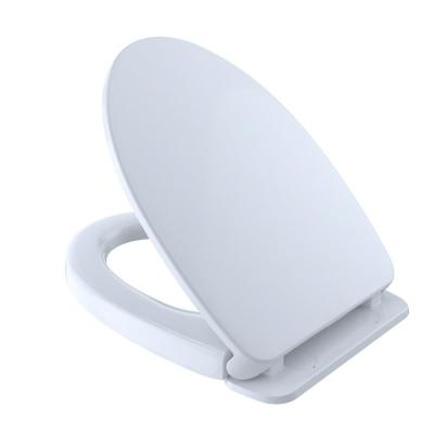 SoftClose Elongated Closed Front Toilet Seat in Cotton White
