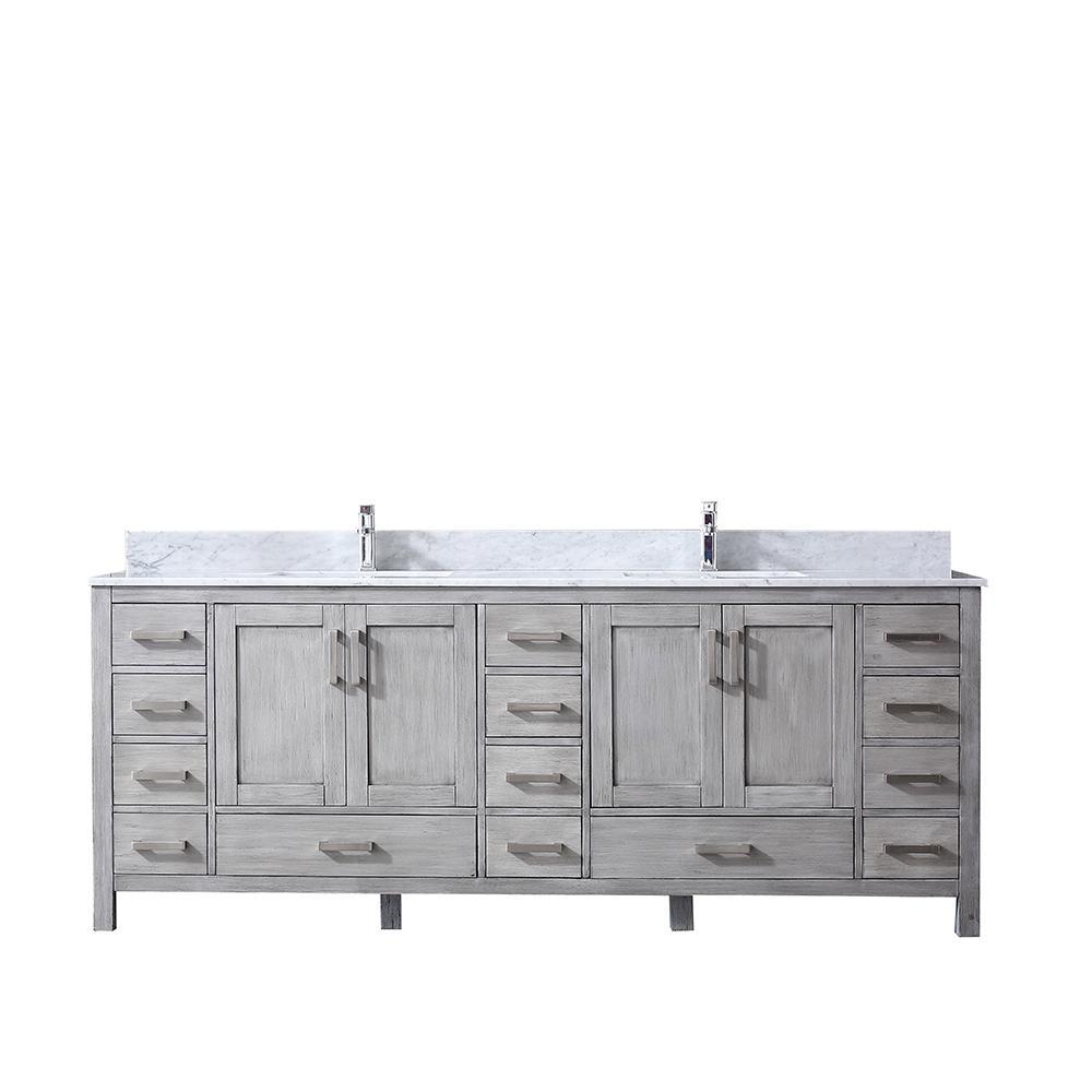 Double Bath Vanity In Distressed Grey