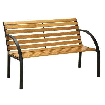 Dumas 45 in. 2-Person Natural Oak Finish Outdoor Bench