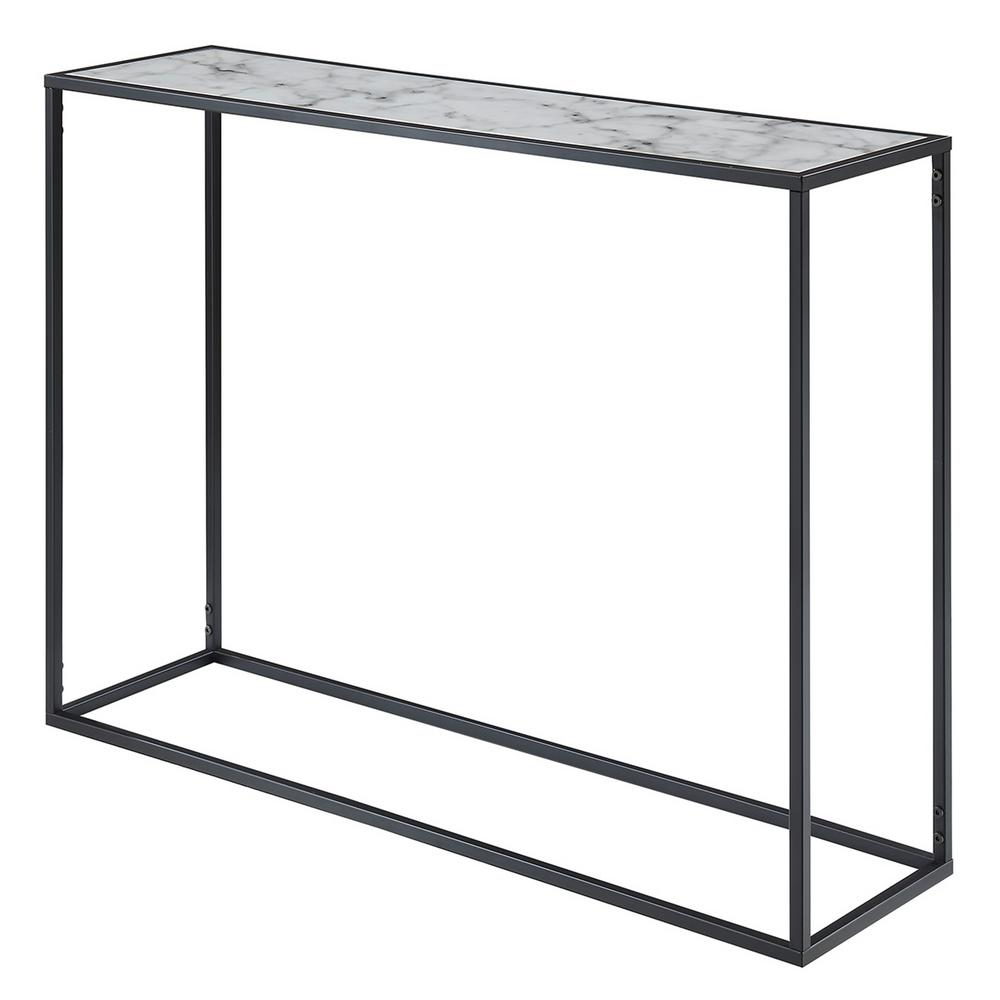 Gold Coast Black and Faux Marble Console Table