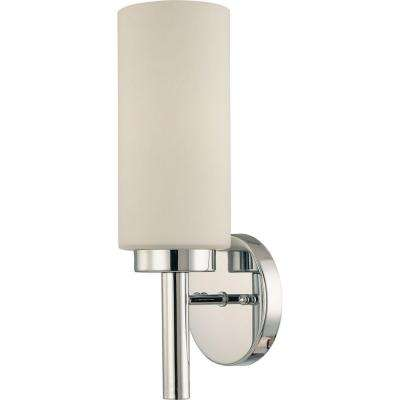 1-Light Chrome Interior Wall Sconce
