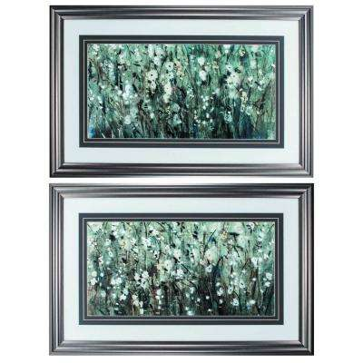Homeroots Victoria Glass Gunmetal Gray Wall Architectural Decor Set Of 2 365726 The Home Depot
