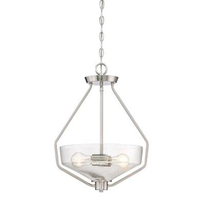 Printers Row 1-Light Satin Platinum Interior Incandescent Pendant