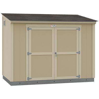Installed Tahoe Lean-To 6 ft. x 10 ft. x 8 ft. 3 in. Un-Painted Storage Building Shed with Shingles and Sidewall Door