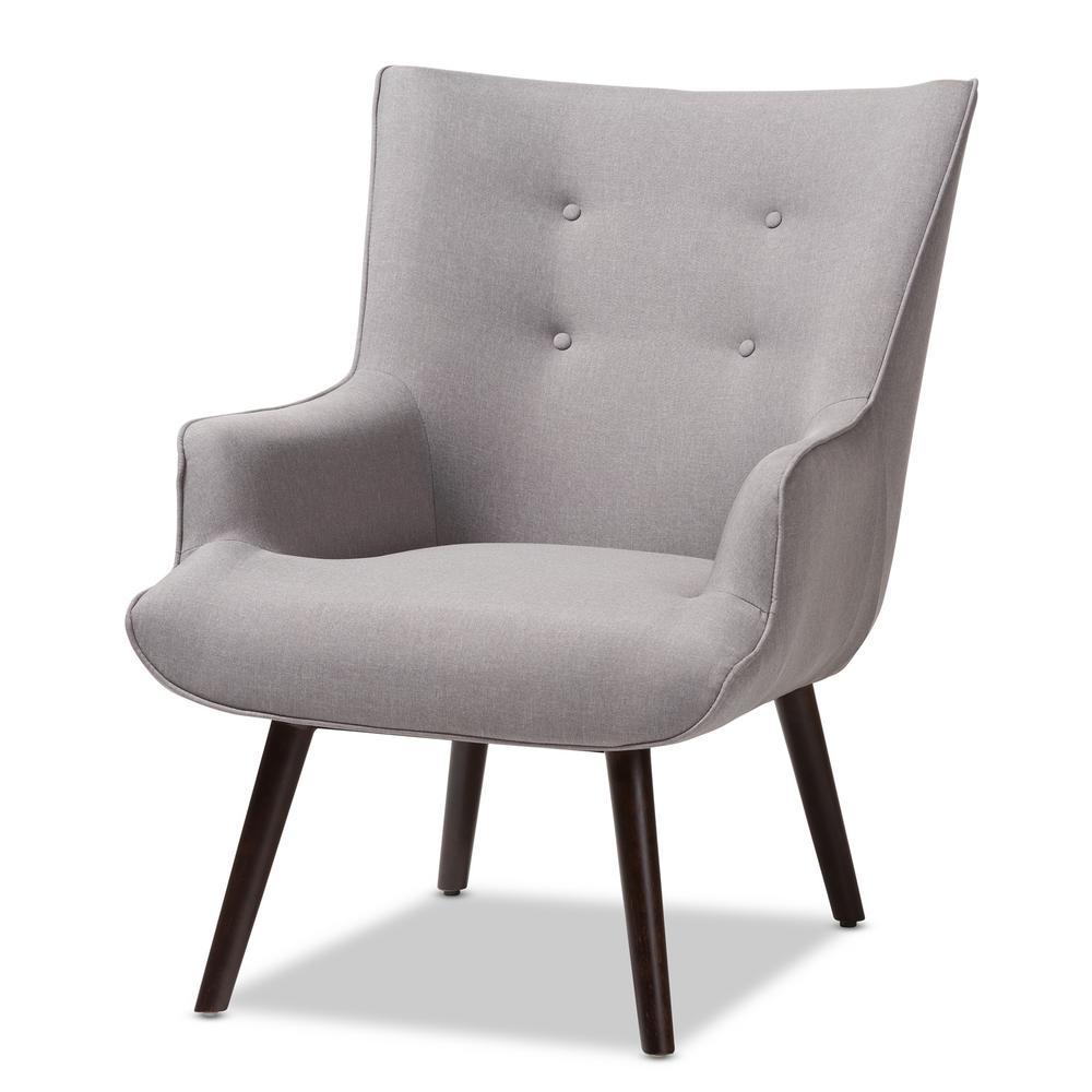 Peachy Baxton Studio Alden Light Grey Fabric Upholstered Lounge Machost Co Dining Chair Design Ideas Machostcouk