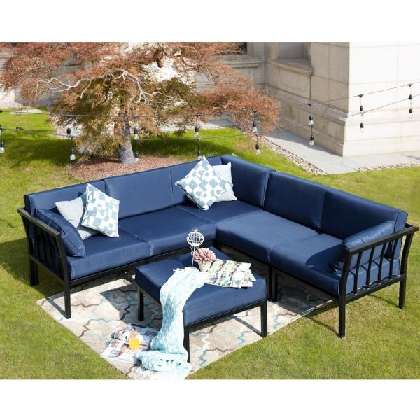 6pc Sectional Sofa Patio Conversation Set - Patio Festival
