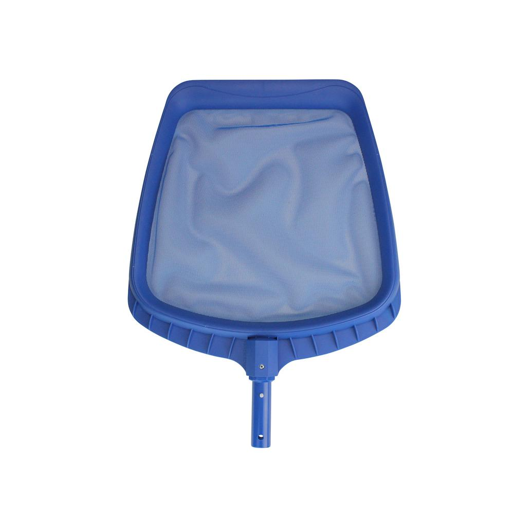 Pool Central 14 in. Heavy-Duty Blue Plastic Swimming Pool Leaf Skimmer Head
