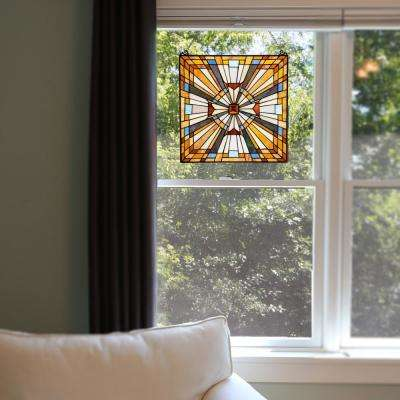 Multi-Colored Stained Glass Pharaoh's Jeweled Window Panel