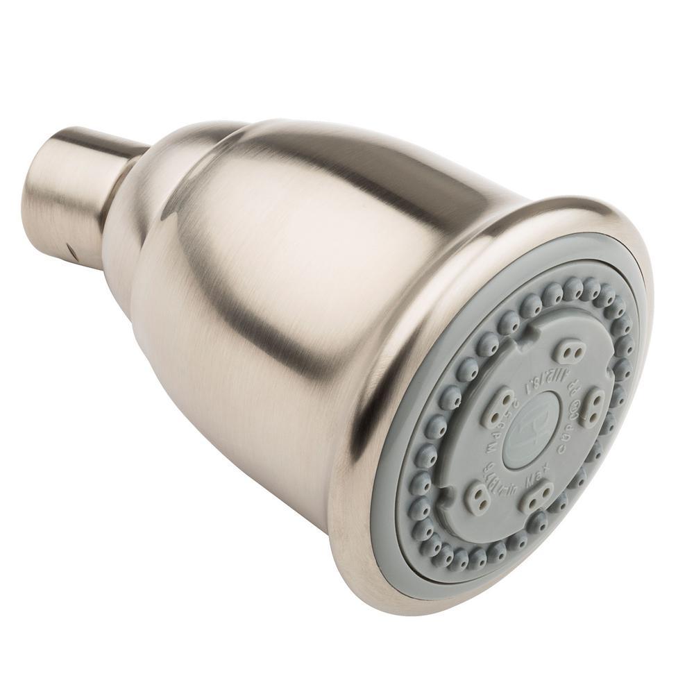 2-Spray 2.66 in. Bell Showerhead in Brushed Nickel