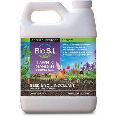 Lawn and Garden Plus Humic Acid 32 fl. oz. Organic Seed and Soil Innoculant