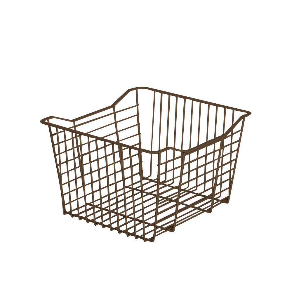 15.35 in. x 9.65 in. Mocha Small Wire Basket