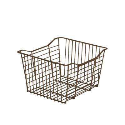 15.35 in. x 9.65 in. Mocha Small Wire Basket