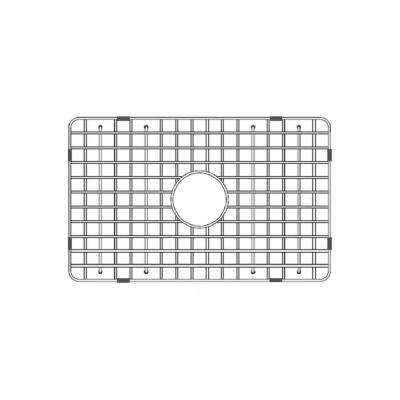 24.5 in. Fireclay Grid for Undermount Single Bowl Sink in Stainless Steel