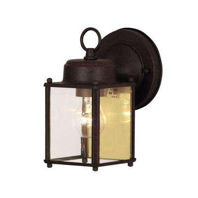 Holger 4-Light Rust Outdoor Wall Mount Lantern