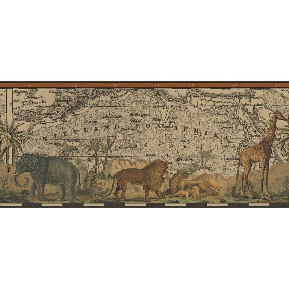 The Wallpaper Company 9 in. x 15 ft. Java Safari Border-DISCONTINUED