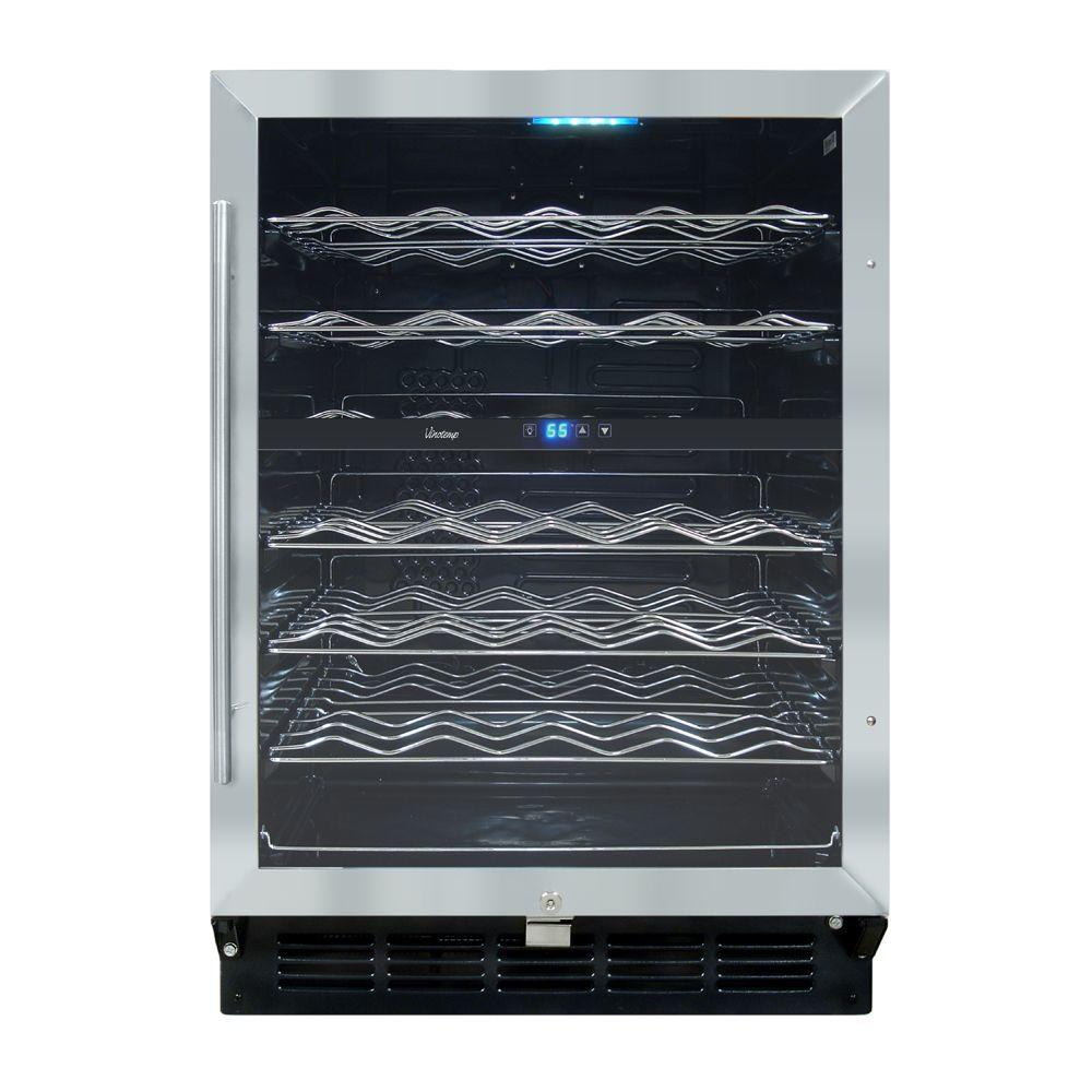 Vinotemp butler 24 in 58 bottle wine cooler vt 58sb id for Modern homes 8 bottle wine cooler