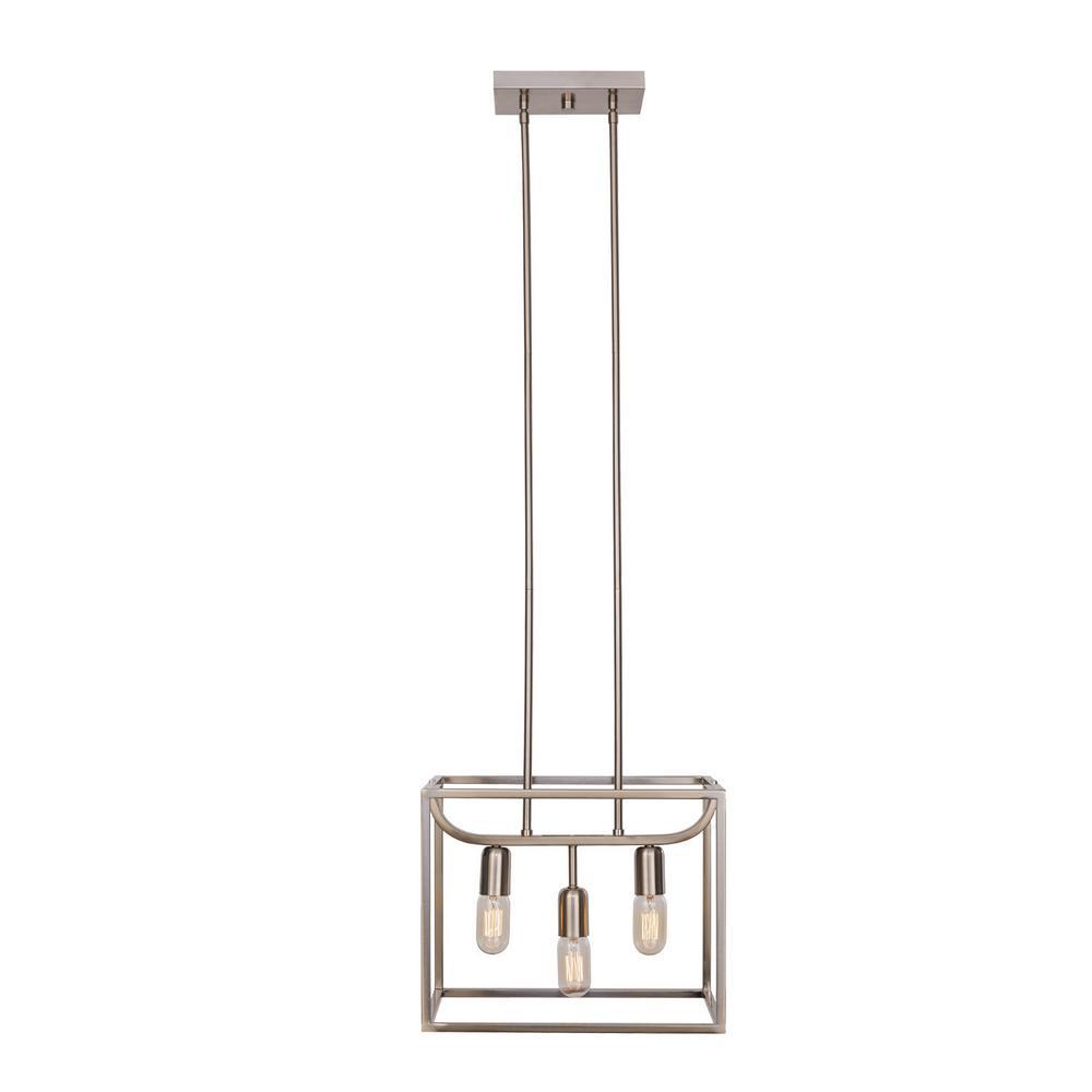 Lyon 3-Light Brushed Steel Chandelier