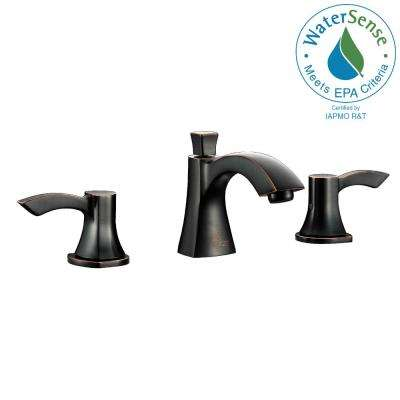 Sonata Series 8 in. Widespread 2-Handle Mid-Arc Bathroom Faucet in Oil Rubbed Bronze