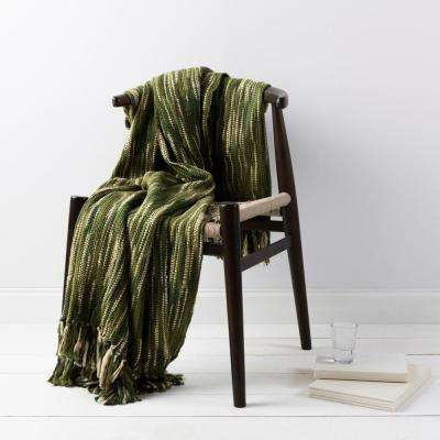 Hollyn Forest Green Acrylic Throw