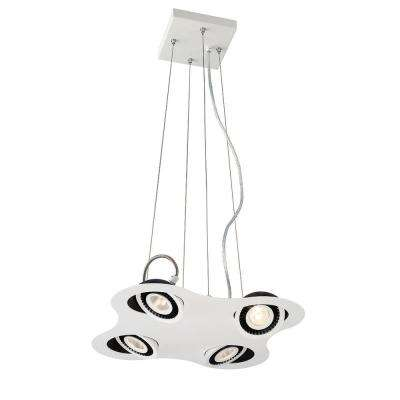 Vision Collection 20-Watt White Integrated LED Pendant
