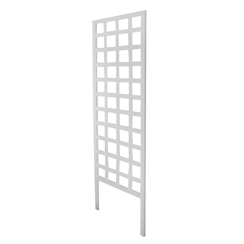 Greenes Fence 72 in. White Square Frame Trellis-RC916SW - The Home Depot