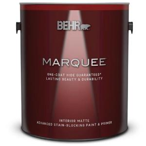 Behr Marquee 1 Gal Ultra Pure White Matte Interior Paint And Primer In One 145001 The Home Depot