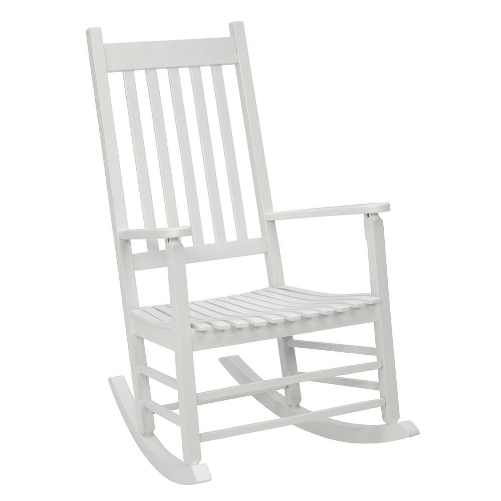 White Mission Patio Rocker